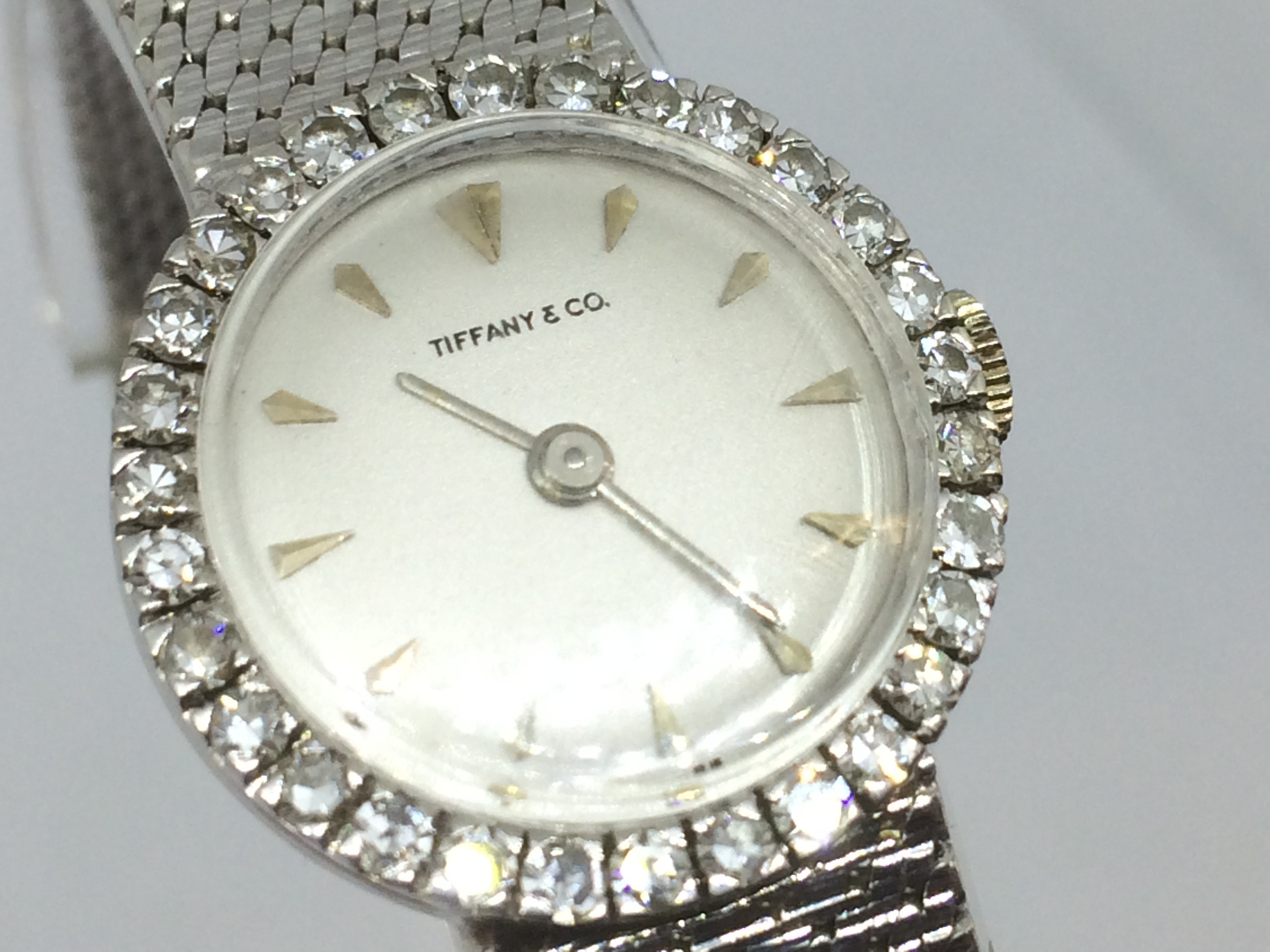 b5b92ba00474a Tiffany & Co Ladies 18ct white gold cocktail watch set with 1.50ct of  diamonds
